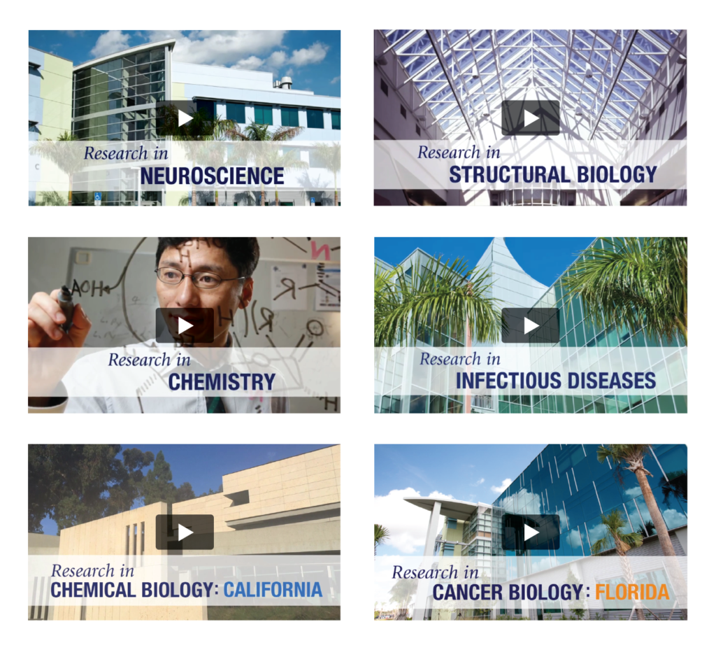 The Scripps Research Institute Video Shots by COE Design